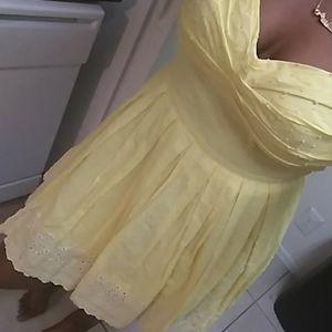 Yellow Beautiful Flowy Dress